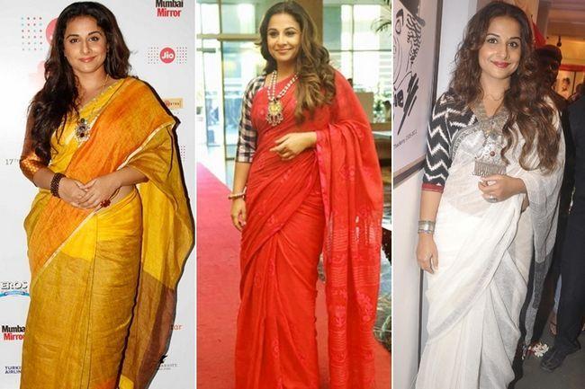 5 Vezes nós quando vidya balan fez querer usar sarees!
