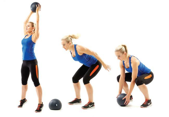 bate bola de medicina - exercícios de queima de gordura para o Verão - Mulheres`s Health & Fitness