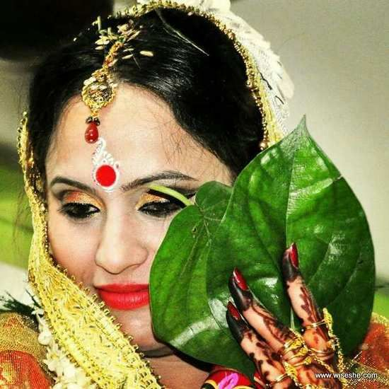 olhar maquiagem de noiva indiana