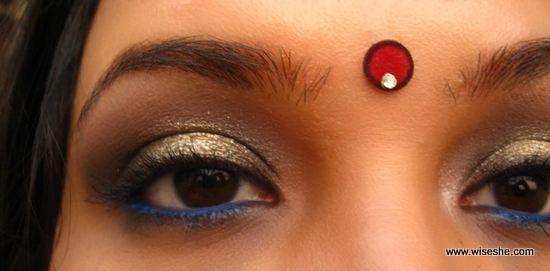 eyemakeup ouro negro tradicional