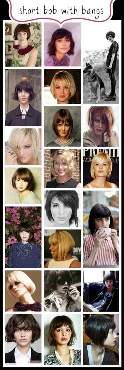 7 Diferentes tipos de penteados bob
