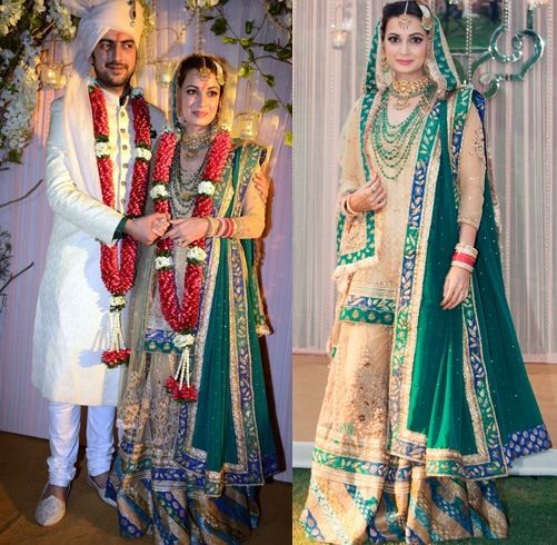 Dia Mirza lehenga casamento