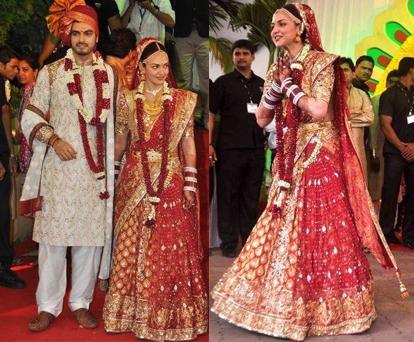 vestido de casamento Esha Deol