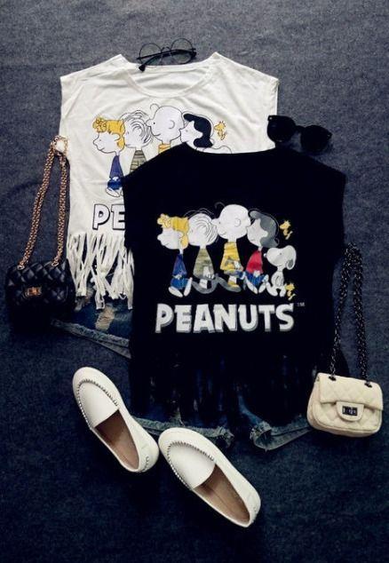 Fringe T-shirts e calções
