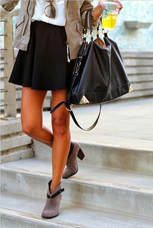 ideia clássica saia preta roupa para olhar diário ocasional