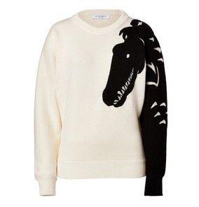 Uma coleção blusas clássico preto e branco para a primavera de 2014