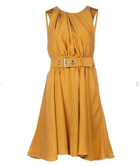 Uma coleção de vestidos de amarelo mostarda delicados para a primavera / verão de 2014
