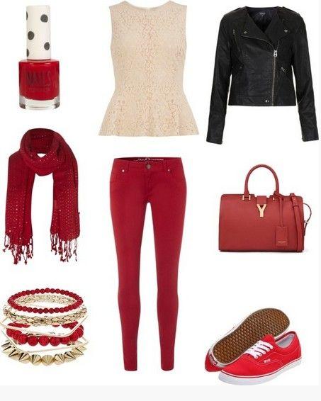 A colletion de roupas vermelho quente do casual ao formal