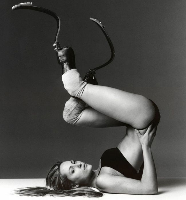 Aimee Mullins prótese Cheetah lega