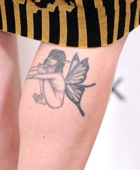 Tatuagens de alexandra breckenridge - asas tatuagem na perna