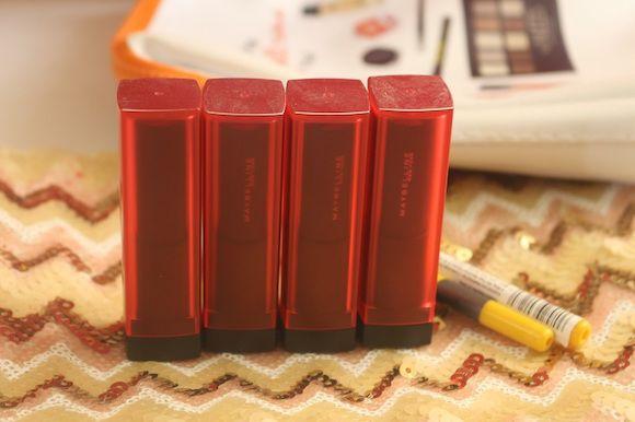 Todos os novos tons de batons maybelline vívida fosco fotos, tons e swatches