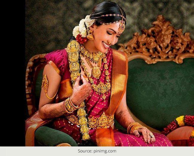 Uma visão para noivas indianas sul, penteados de noivas e mais