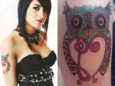 Anissa rodriguez tatuagens e significados - corujas sábio flores psicodélicas bonitos!