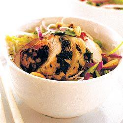 Asian salada de frango com sabor