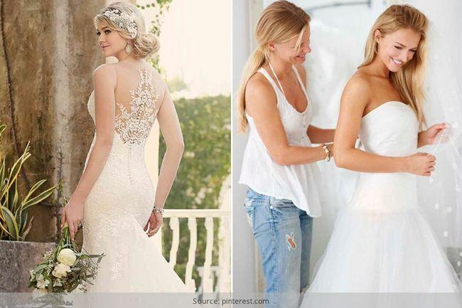 Evitar esses erros durante as compras para o seu vestido de casamento