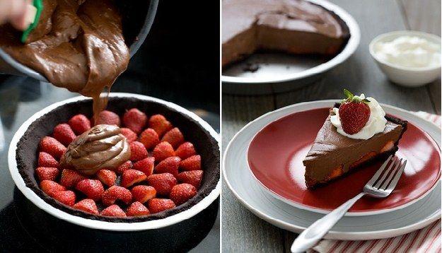 Chocolate Morango Pie