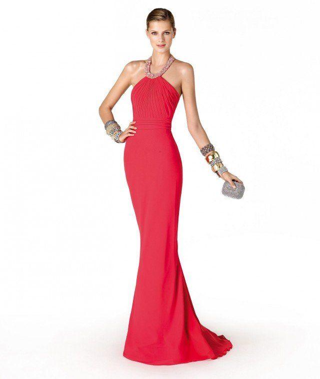 Vestidos longos vermelhos bonitos e românticos para damas de honra