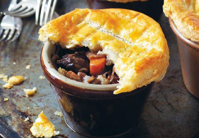 Beef pie bourguignon