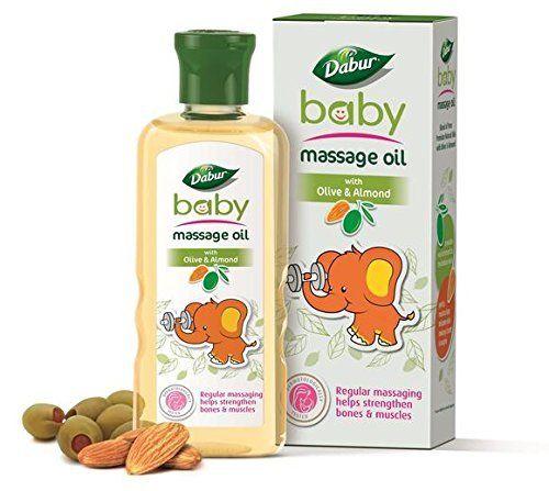 Huile de massage Dabur-bébé aux olives et aux amandes