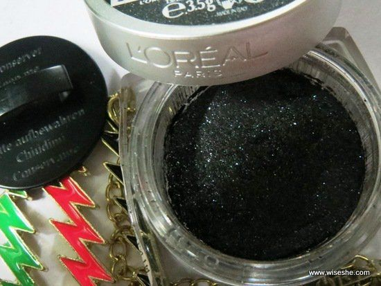 Loreal-Paris-Cor-Infallible-EYESHADOW-Eternal-Black-014-Review-Package + sombra