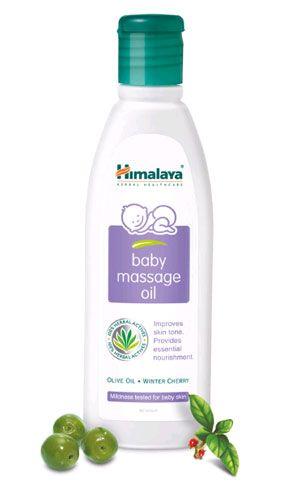 Huile de massage pour bébé à base de plantes de l'Himalaya