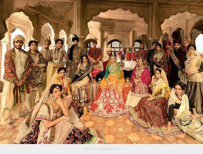 Lance tradicional vermelhos adeus: os muitos tons de moda nupcial indiano