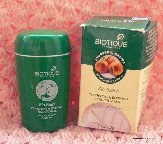 Biotique bio pêssego esclarecer refino descolar máscara