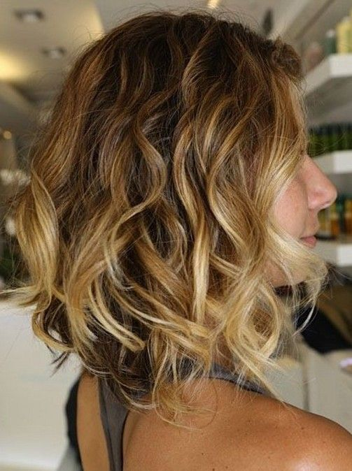 Curly Hairstyle Ombre Bob