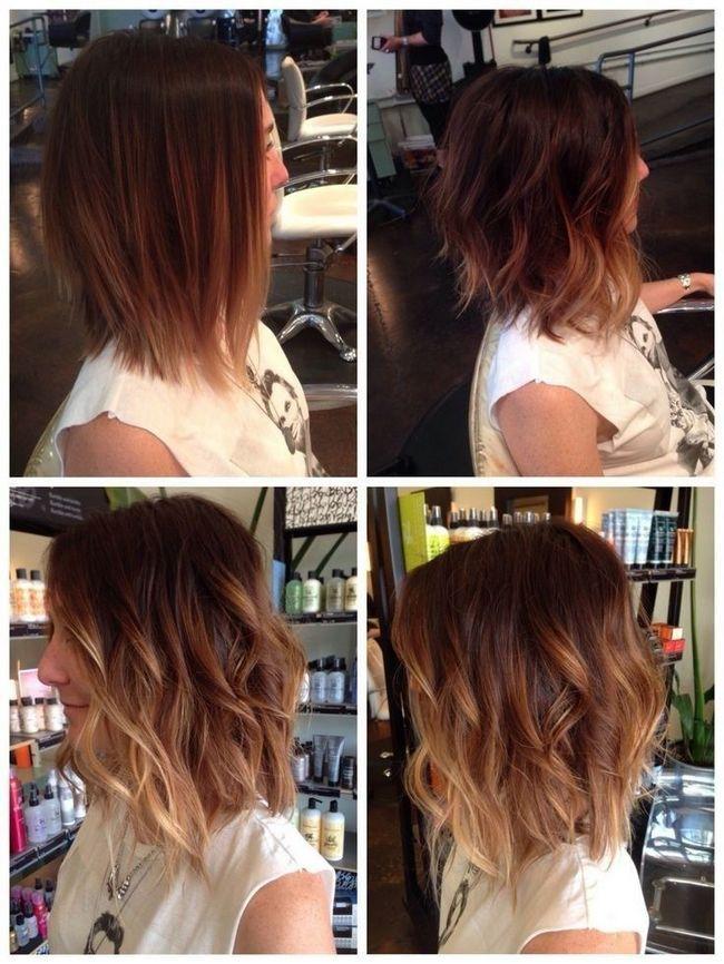 médio ombre ondulado penteado bob para as mulheres