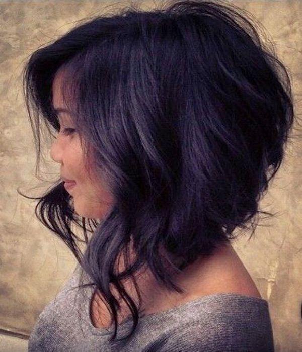ondulado Aline corte de cabelo bob sexy para as mulheres