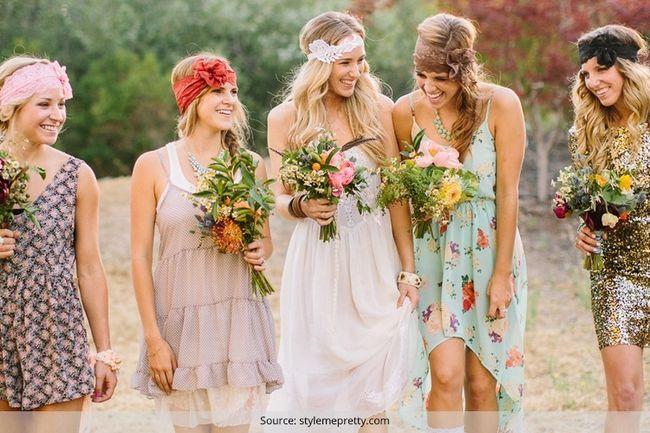Bohemian moda nupcial: casamentos felizes com abundância de moda
