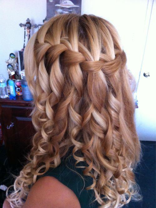 Cachoeira trança de cabelo encaracolado