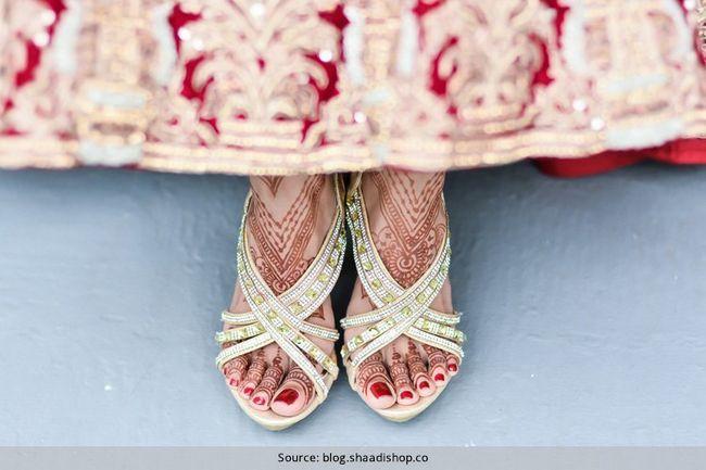 Sapatos de noiva cada menina indiana deve ter para seu casamento