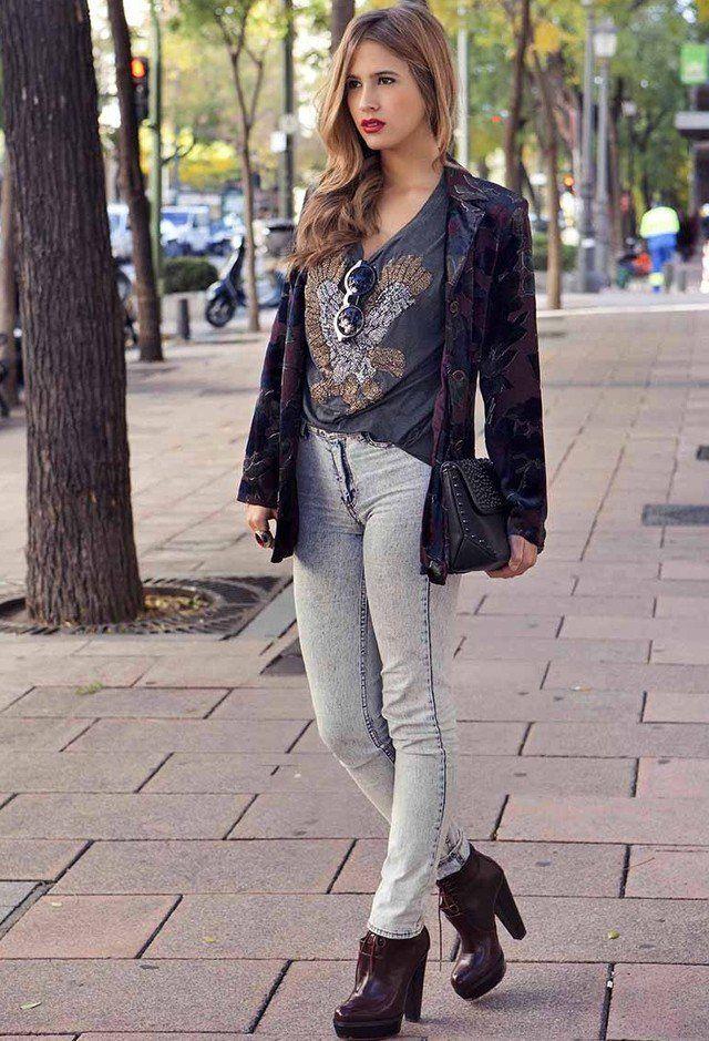 Outfit queda chique com Blazer e Jeans