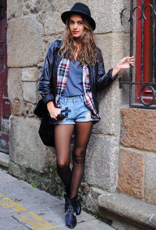 Edgy Idea queda Outfit com shorts jeans