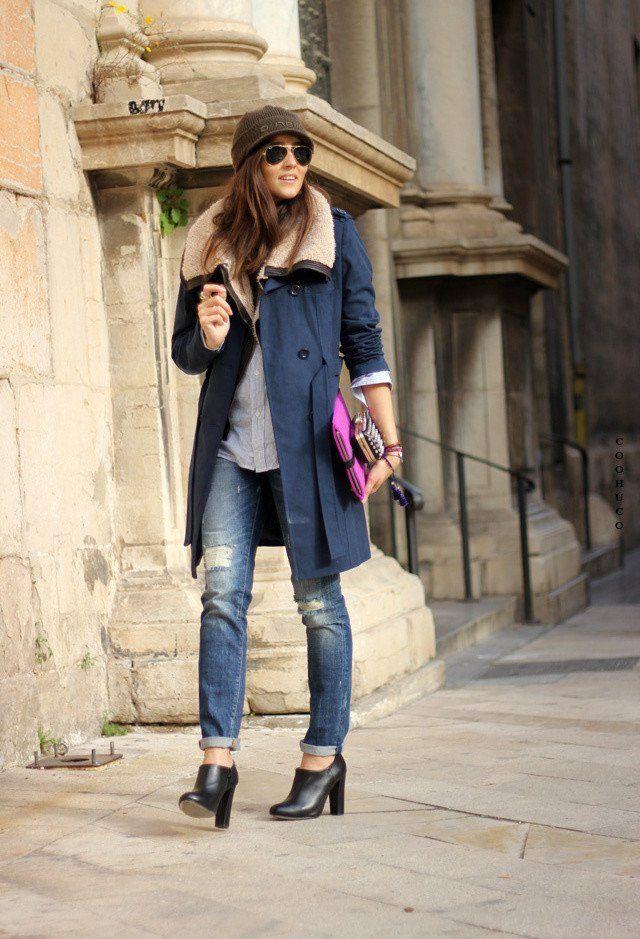 Rasgado Idea Jeans Outfit para o Outono