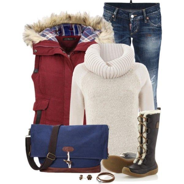 Ideias do equipamento do inverno elegante e confortável para 2015