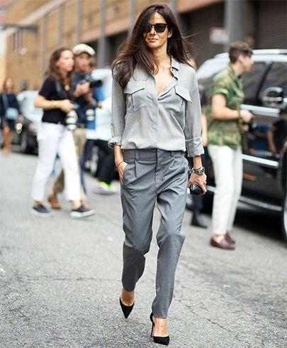 Tons de cinza idéias de moda