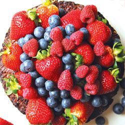 Chocolate e torta de amêndoa