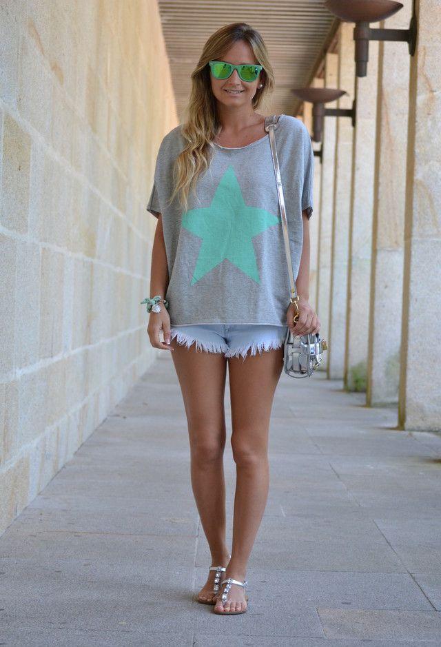 Shorts e Over-sized shirt