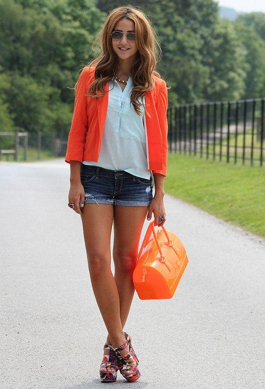 Shorts e colorida brilhante Blazer