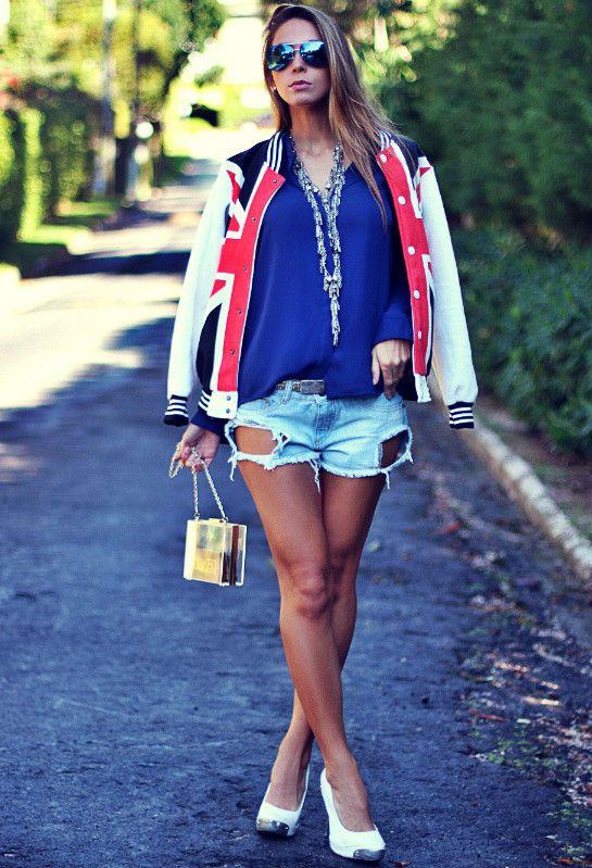 Idea roupa casual com shorts jeans