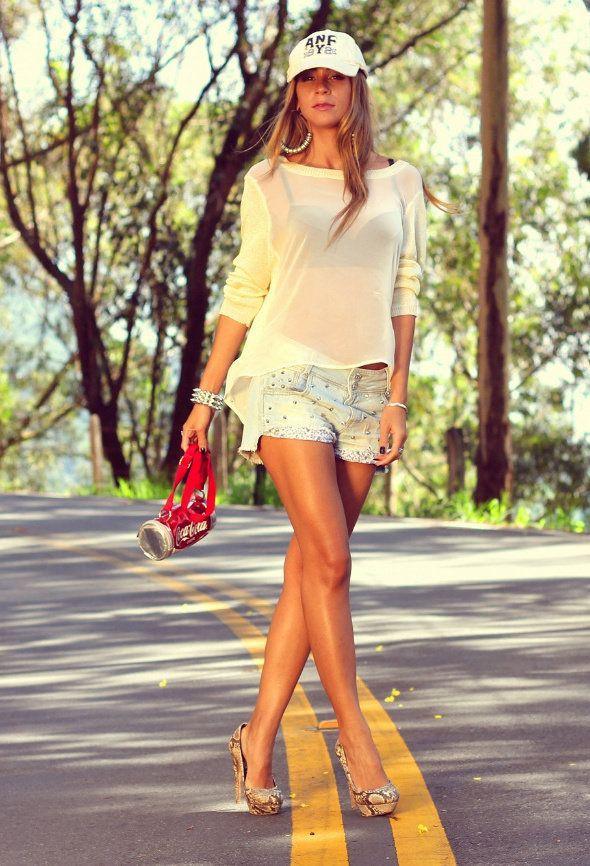 Equipamento do verão elegante, com Shorts