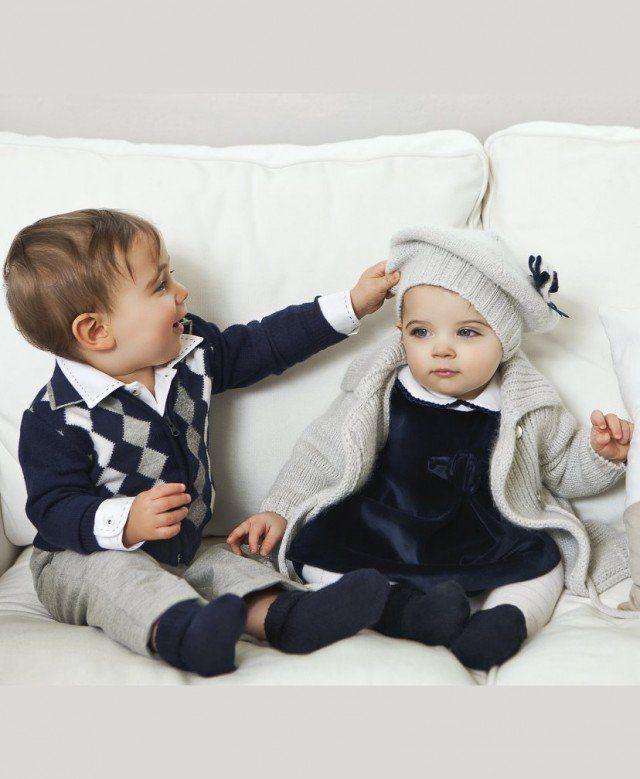 Ideias roupa de outono-inverno bonito e chique para crianças