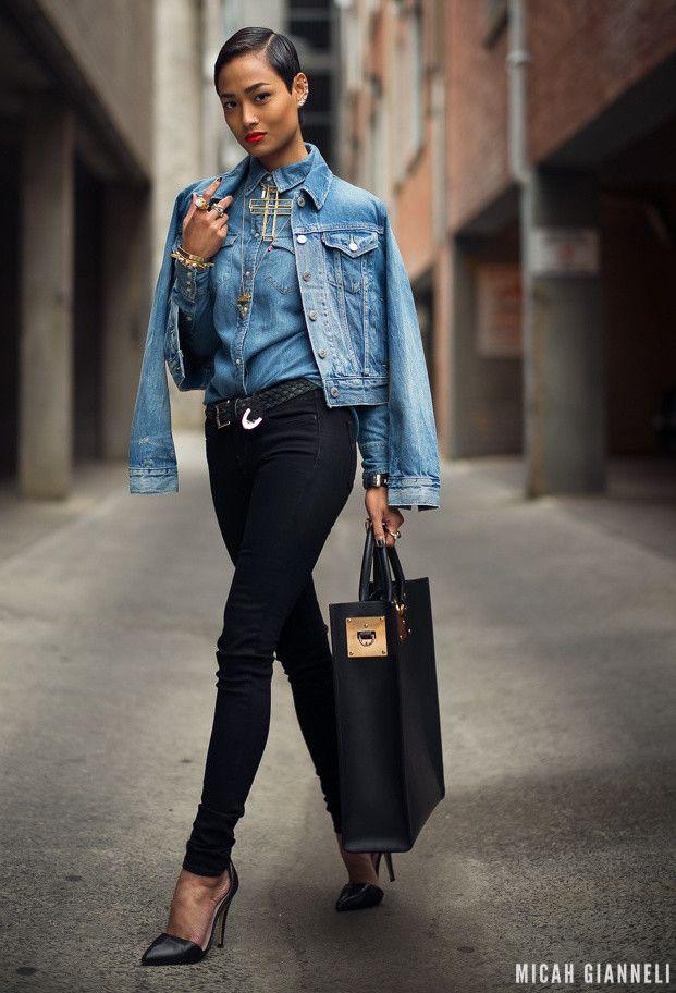 Denim Jackets | 18 Combinações de moda Ideias para a Primavera 2014