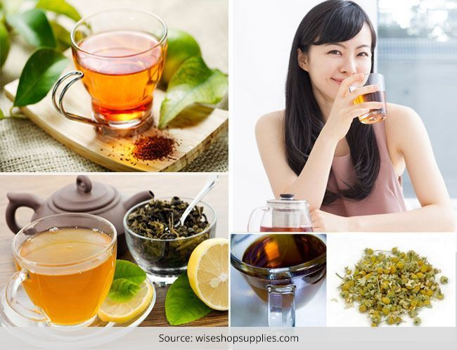 Diferentes tipos de chás de ervas: a mística e os sabores