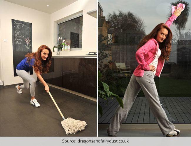 Diferentes maneiras de entrar em forma, fazendo o trabalho de casa