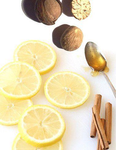Mel de limão Noz-moscada e canela