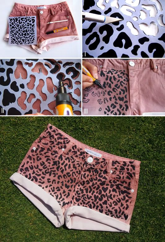 Shorts leopardo
