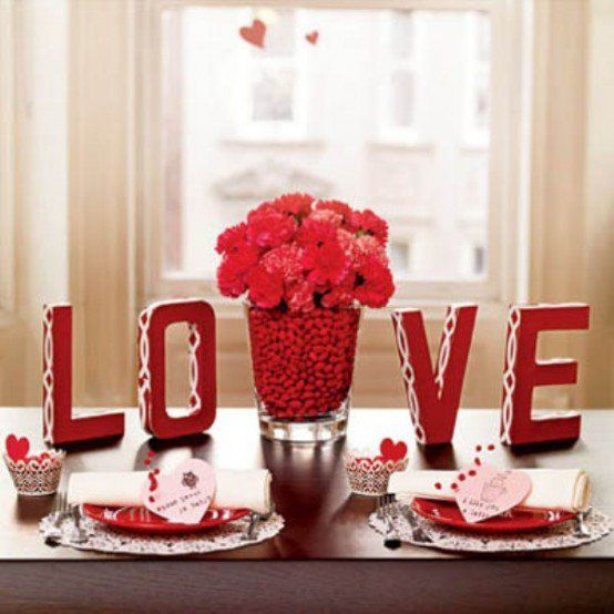 Casa decorações românticas para dia dos namorados